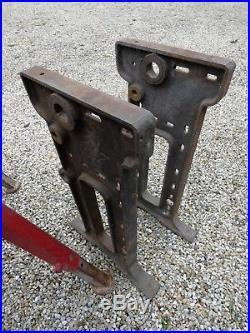 Meuble Métier Piétement Industriel Pied de Machine Fonte Massive Atelier 1950