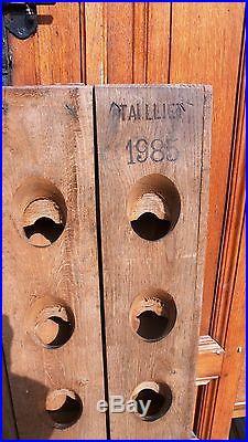 Meuble Métier Vin Viticulture Pupitre Cave à Champagne 120 Bouteilles Chêne 1985