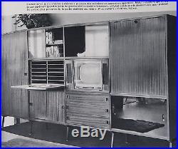 Meuble bahut enfilade rangement bureau rene caillette 1950 design archive