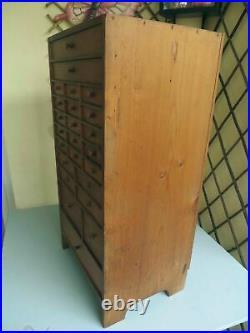 Meuble de Métier Ancien Layette d'Horloger à Tiroirs Mercerie Horlogerie Bois