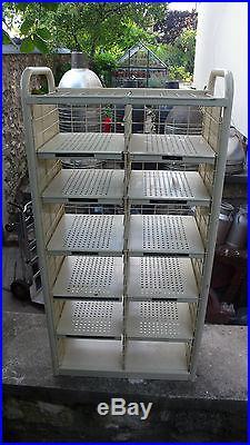 Meuble de Métier Postes Industriel Casier de Tri Postal 12 Cases Métal 1970