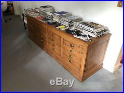 Meuble de Métier ancien en bois, 16 tiroirs