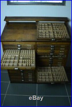 Meuble de métier imprimeur imprimerie ancien