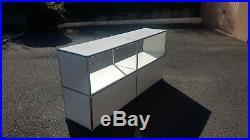 Meuble modulable mixte USM Haller design enfilade bibliothèque sideboard