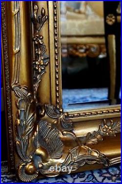Miroir 150x89cm Doré Style Baroque Louis XV Pour Palais Cheminée D'un Chteau