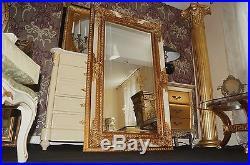 Miroir 154x94cm Blanc Et Doré Ancien Baroque Pour Palais Cheminée D'un Chteau