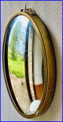 Miroir Ancien oeil de sorcière ovale Bombé ART DÉCO