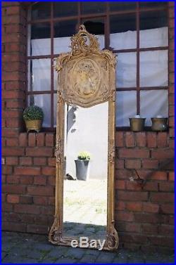 Miroir Baroque 176x58 CM Style Louis XV Pour Palais Cadre En Bois D'un Chteau
