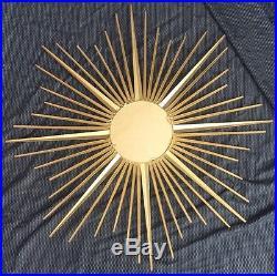 Miroir Sorcière Soleil Chaty Vallauris Vintage Époque 1960 1970 Sunburst