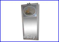 Miroir Trumeau Avec Peinture Marine Patine Blanc