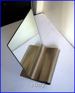 Miroir à poser Moderniste Acier Inox brossé dans le goût de Kappa Maria Pergay