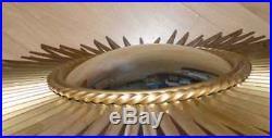 Miroir soleil métal années 50-60 style Chaty Vallauris