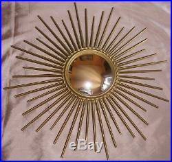 Miroir soleil vintage CHATY VALLAURIS bombe sorciere old mirror sunburst 50,5cm