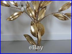 Monumentale Lampe Applique Florale De Hans Kögl Annees 70
