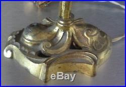 Muller frères luneville lampe bronze et pate de verre