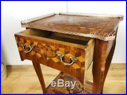 PAIRE DE TABLES DE CHEVET(FIN 19 eme) EN MARQUETERIE DE STYLE LOUIS XV