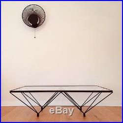 PAOLO PIVA / B&B ITALIA Table Basse VERRE Métal 120x70 Vintage 1980 Postmodern
