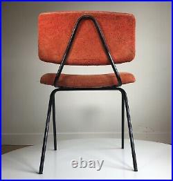 PIERRE GUARICHE MINVIELLE 2 Chaises Compas Vintage Design Français 1960 Paulin