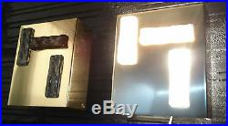 Paire Appliques Perzel French Lights 1970 Lamp Pair Of Sconces 70 Vintage