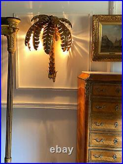 Paire D Appliques En Forme De Palmier En Métal Doré Style Année 70 De 64 CM De H