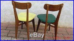 Paire De Chaises En Bois Annee 50/60 Designer Gascoin