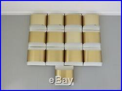 Paire De Lampes Appliques Bandeau Staff En Laiton Dore Annees 70 N°5