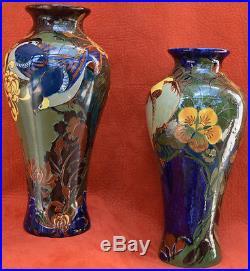 Paire De Vases Rozenburg Den Haag, Art Nouveau