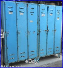 Paire anciens vestiaires en tole 3 portes design industriel atelier loft garage