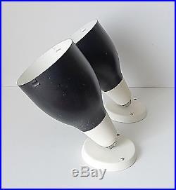 Paire applique LITA métal vintage années 60 70 design 1970 moderniste biny