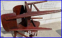 Paire de chaise bois reconstruction moderniste Jean Prouvé