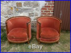 Paire de fauteuils gondole art déco