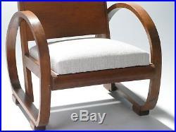 Paire de fauteuils modernistes Michel Dufet 1940s