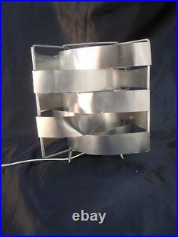 Paire de lampes Uranus Max sauze vers 1970 lampe cubique aluminium moderniste