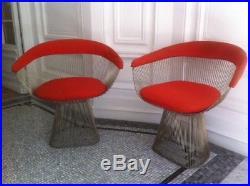 Paire des fauteuil Warren Platner