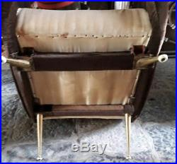 Paire fauteuils 50's italie zanuso era