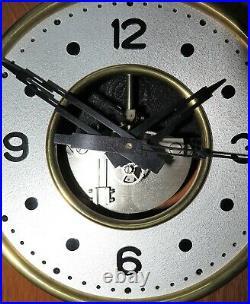 Pendule electrique à galette ENH de CLUSES electric clock (no ato, brillié)