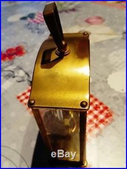 Pendulette JAEGER-LECOULTRE Mouvement baguette 8 Jours clock uhr orlogio 1960's