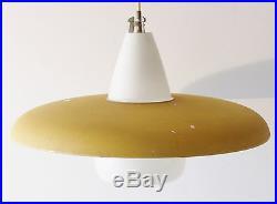 Philips Grand Lustre Soucoupe Jaune 1950 Vintage 50s Vtg Rockabilly Light