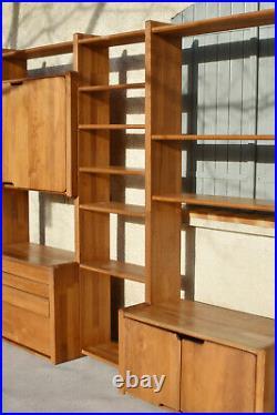 Pierre Chapo bibliothèque modulable système GO en orme massif