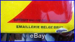 Plaque Tôle émaillée COCA COLA Glacé Copyright 1941 Sprite Boy Email Bruy 1948
