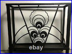 Porte parapluie époque Art déco en fer forgé noir