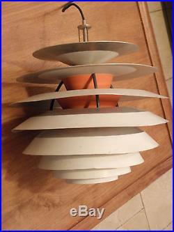 Poul Henningsen LOUIS POULSEN PH Kontrast Lampe Lustre suspension années 60