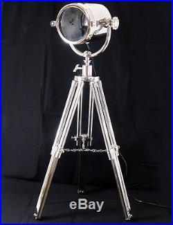 Projecteur Lampadaire Lampe Marine Avec Trepied En Metal Marin Luminaire Retro