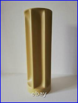 RARE 1969 Enzo MARI BAMBU Vase PVC DANESE MILANO with maker's badge Italy