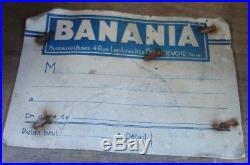 RARE Petit meuble d'épicerie BANANIA / Caisse présentoir publicitaire métier Pub