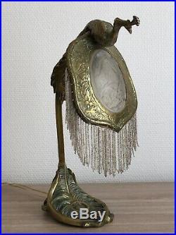 RARE Superbe authentique LAMPE en BRONZE ART NOUVEAU Jugendstil Guimard Gallé