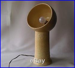 RARISSIME LAMPE EN CERAMIQUE à la manière de ANDRÉ BORDERIE à identifier