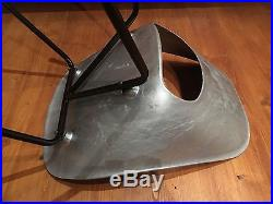 Rare Chaise De Pierre Guariche, Tonneau Aluminium, Design 50