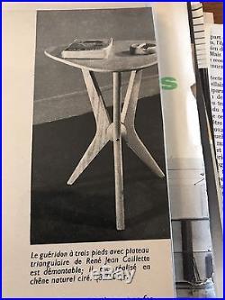 Rare Guéridon De René Jean Caillette 1950-1960 Design Vintage Midcentury