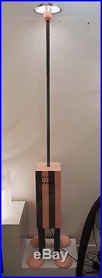 Rare Lampadaire Terminus Design Martine Bedin Memphis Milano 1980 Sottsass